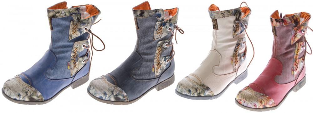 Details zu Damen Leder Winter Stiefeletten Comfort Boots Knöchel Schuhe TMA 5016 gefüttert