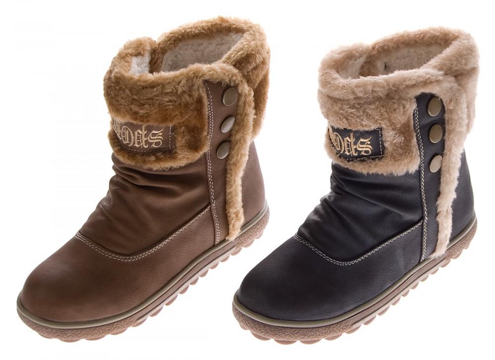 Damen Stiefeletten Herbst Winter Schuhe Stiefel gefüttert Knöchelschuhe  Fellrand 51e96fe851
