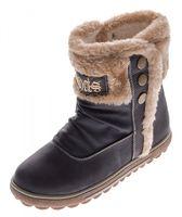 Damen Stiefeletten Grau Braun Herbst Winter Schuhe Stiefel gefüttert Knöchelschuhe mit Fellrand – Bild 2