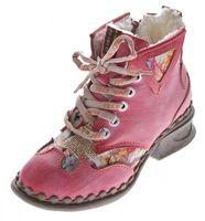 Leder Damen Winter Stiefeletten Comfort Knöchel Schuhe TMA 5171 Schwarz Weiß Blau Rot Boots gefüttert – Bild 4