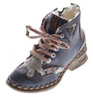Leder Damen Winter Stiefeletten Comfort Knöchel Schuhe TMA 5171 Schwarz Weiß Blau Rot Boots gefüttert – Bild 2