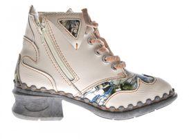 Leder Damen Winter Stiefeletten Comfort Knöchel Schuhe TMA 5171 Schwarz Weiß Blau Rot Boots gefüttert – Bild 23