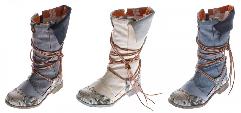 Damen Leder Winter Stiefel Comfort Boots TMA 5561 Schuhe Schwarz Weiß Blau  Stiefeletten gefüttert 6ed7f4e1d7