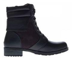 Damen Boots Schnürer Herbst Winter Knöchel Schuhe Schwarz Stiefeletten Blockabsatz leicht gefüttert – Bild 3