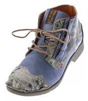 Damen Leder Knöchel Schuhe Stiefeletten Comfort Desert Boots TMA 5330 Halbschuhe Schwarz Weiß Rot Blau – Bild 3