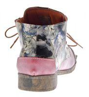 Damen Leder Knöchel Schuhe Stiefeletten Comfort Desert Boots TMA 5330 Halbschuhe Schwarz Weiß Rot Blau – Bild 17