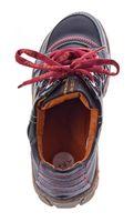 Comfort Damen Leder Schuhe Schnürer TMA 4181 Sneakers Schwarz Weiß Rot Grün Turnschuhe Halbschuhe – Bild 9