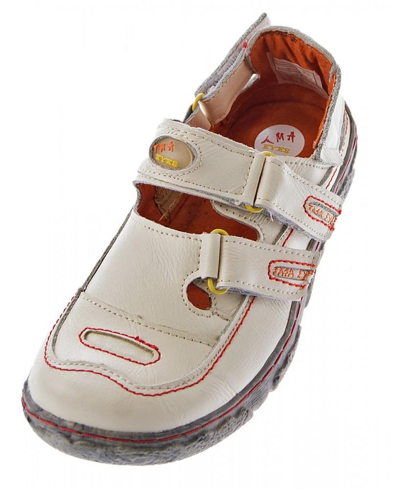 16549d40f8e425 Damen Comfort Leder Sandalen TMA 7093 Schuhe Schwarz Weiss Rot Grün  Halbschuhe Sandaletten – Bild 3