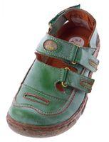 Damen Comfort Leder Sandalen TMA 7093 Schuhe Schwarz Weiss Rot Grün Halbschuhe Sandaletten  – Bild 4