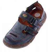 Damen Comfort Leder Sandalen TMA 7093 Schuhe Schwarz Weiss Rot Grün Halbschuhe Sandaletten  – Bild 2