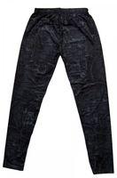 Damen Leggings Schwarz-Grau Gummizug Jeans-Optik Skinny Hose – Bild 2
