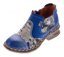 Damen Leder Comfort Knöchel Schuhe TMA 5195 Halb Schuhe Schwarz-Grau Blau Weiß Rot Grün Blockabsatz Boots – Bild 2