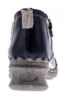Damen Leder Comfort Knöchel Schuhe TMA 5195 Halb Schuhe Schwarz-Grau Blau Weiß Rot Grün Blockabsatz Boots – Bild 8