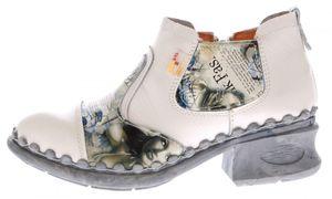 Damen Leder Comfort Knöchel Schuhe TMA 5195 Halb Schuhe Schwarz-Grau Blau Weiß Rot Grün Blockabsatz Boots – Bild 23