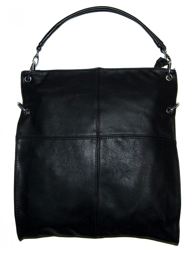 damen handtasche hellblau schwarz schultergurt kunst leder henkeltasche handtaschen. Black Bedroom Furniture Sets. Home Design Ideas