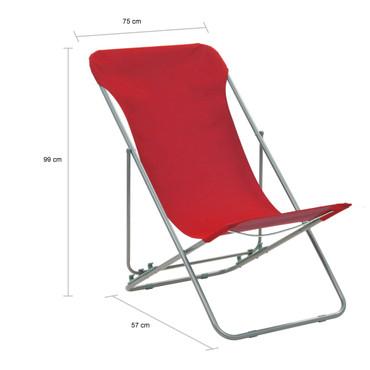 Klappbare Strandstühle 2 Stk. Stahl und Oxford-Gewebe Rot – Bild 10