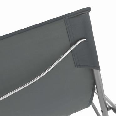 Klappbare Strandstühle 2 Stk. Stahl und Oxford-Gewebe Grau – Bild 7