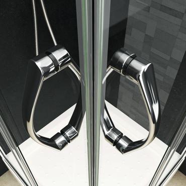 Duschabtrennung mit Wanne Sicherheitsglas 80 x 80 x 185 cm – Bild 6