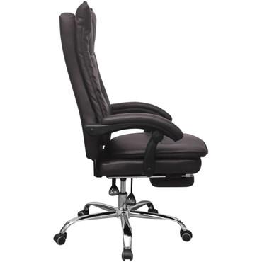 Relaxsessel Bürostuhl Chefsessel mit Fußstütze Braun – Bild 6