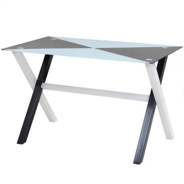 5-tlg. Essgruppe Esstisch und Stühle Kunstleder – Bild 2