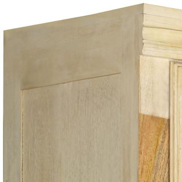 Kleiderschrank Mangoholz Massiv 60 x 50 x 200 cm – Bild 9