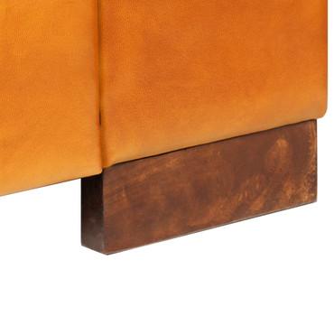 2-Sitzer-Sofa Echtleder Hellbraun – Bild 9