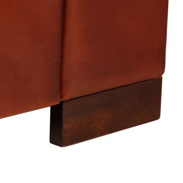 2-Sitzer-Sofa Echtleder Dunkelbraun – Bild 11