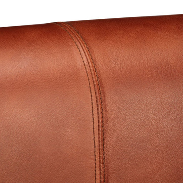 2-Sitzer-Sofa Echtleder Dunkelbraun – Bild 9