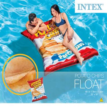 "Intex Aufblasbare Pool-Matratze ""Potato Chips"" 178×140 cm 58776EU – Bild 4"