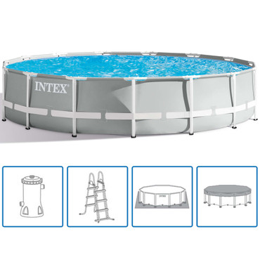 Intex Prism Frame Swimmingpool-Set Rund 457 x 107 cm 26724GN – Bild 1