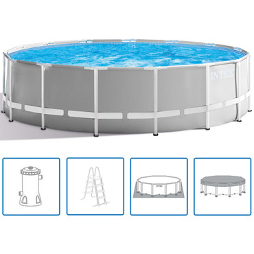 Intex Prism Frame Swimmingpool-Set Rund 457 x 122 cm 26726GN – Bild 1