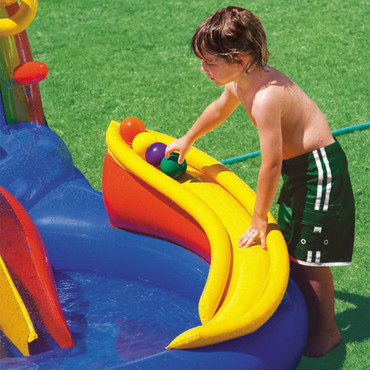 Intex Aufblasbarer Pool Rainbow Ring Play Center 297x193x135cm 57453NP – Bild 4