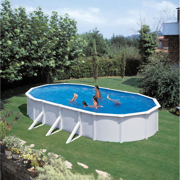 KWAD Schwimmbad Steely Deluxe Oval 6,1 x 3,6 x 1,2 m  – Bild 3