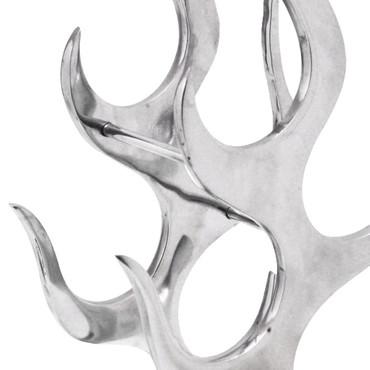 Weinregal Flammenform Aluminium Silber 9 Flaschen – Bild 3