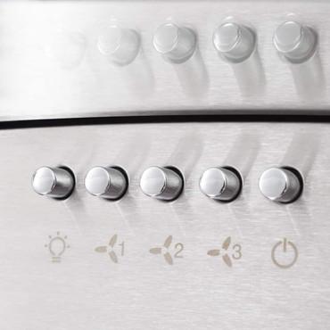 7-tlg. Küchenzeile Set mit Dunstabzugshaube Hochglanz Weiß  – Bild 6