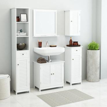 Badmöbel-Set 5 Stk. Weiß – Bild 1