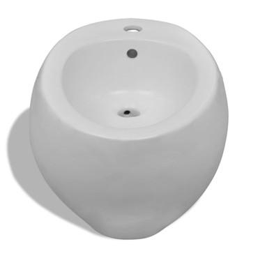 Wand-Hänge WC Toilette +Hänge Bidet+ SoftClose Weiß – Bild 9
