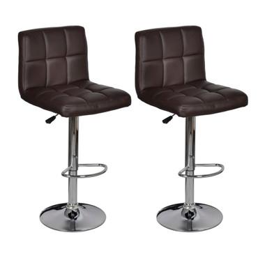 2 x Barhocker Stuhl braun  Höhenverstellbar – Bild 2