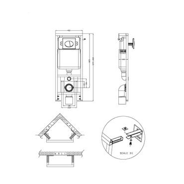 EI-DESIGN WAND-HÄNGE TOILETTE/WC-SET WEIß INKL. SPÜLKASTEN – Bild 10