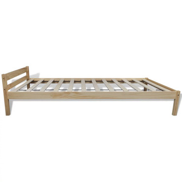 Bett 90×200 cm Kiefernholz Massiv Natur   – Bild 2