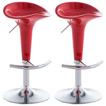 Barhocker 2 Stk. Kunststoff Rot – Bild 2