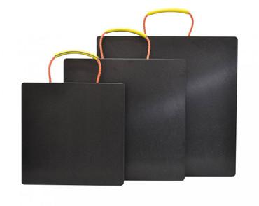 Kunststoff Abstützplatte 500x500mm | bis 20t | schwarz – Bild 2