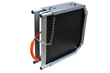 1 Abstützplatte aus Kunststoff + Singleplattenbox aus Metall