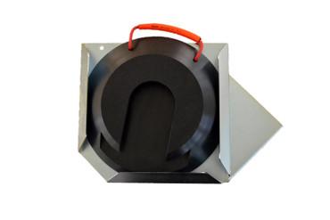 Steckplatte mit Halter links - rund
