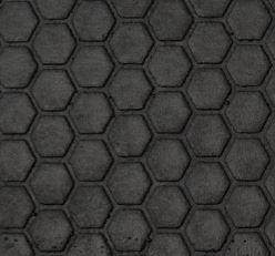 Hexagonal-Struktur der Gummimatten, Gummiboden