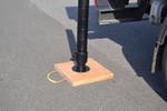 Abstützplatte aus Holz (Hartholz) - 400x400mm | 7-17t