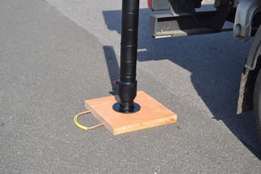 Abstützplatte aus Holz (Hartholz) - 500 x 500 mm – Bild 1