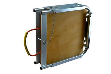 Singleplattenbox (inkl. 1 Abstützplatte aus Holz) Abstützplatten aus Hartholz, Multiplex mit passender Box