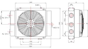 Hydraulik Ölkühler 12V GR50D – Bild 2