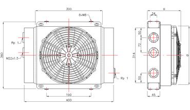 Hydraulik Ölkühler 12V/24V | GR100S – Bild 2